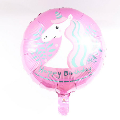 Ballon licorne rose