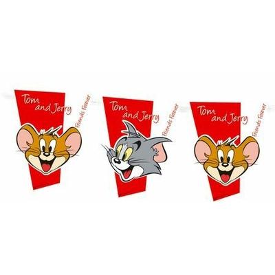 1 Bannière Drapeaux- Looney Tunes© Tom Et Jerry