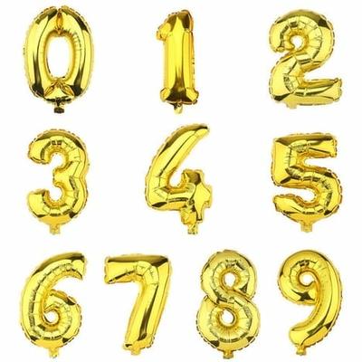 Ballon chiffre or
