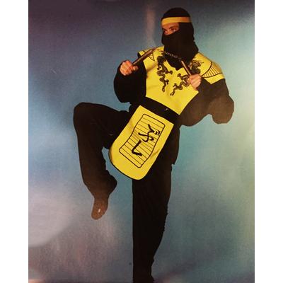 Déguisement de Ninja noir et jaune adulte