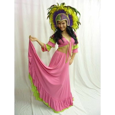 Costume de Danseuse Brésilienne Rose