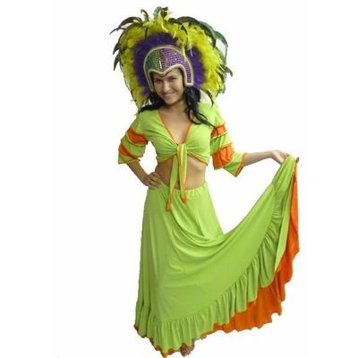 Déguisement de Danseuse Brésilienne Vert Anis