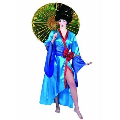 Déguisement de Geisha bleu