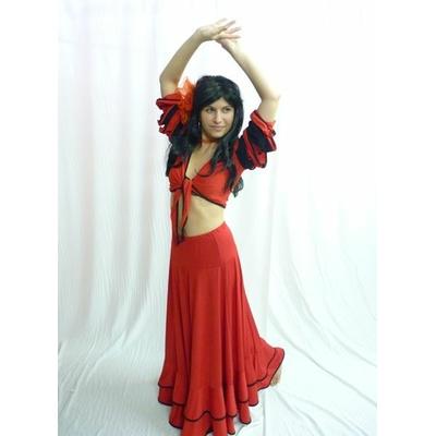 Costume danseuse Flamenco Rouge Et Noir