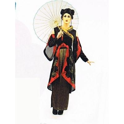 Déguisement de Geisha Rouge Et Noire