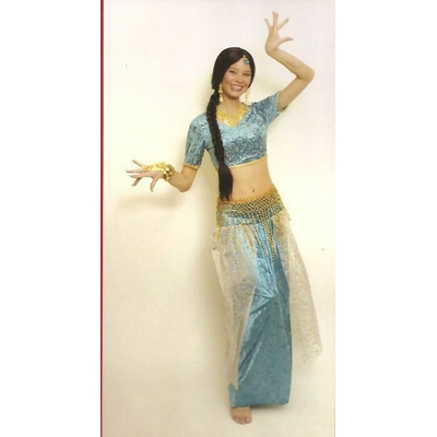 Déguisement Bollywood femme Turquoise