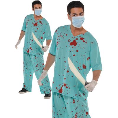Déguisement de chirurgien zombie