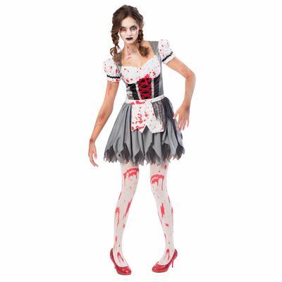 Déguisement de bavaroise zombie