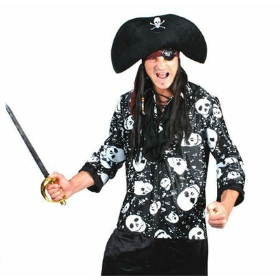 Chemise de Pirate Noire