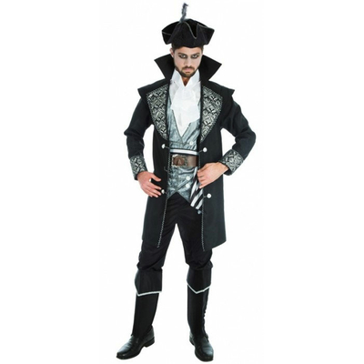 Costume de pirate adulte noir