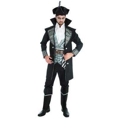 Costume de pirate adulte noir Large 50/52