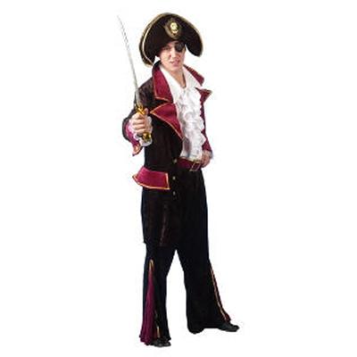 Déguisement de pirate en velours