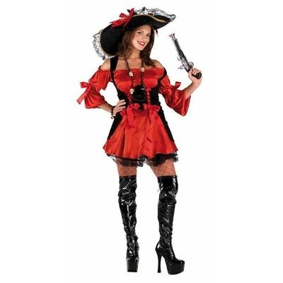 Déguisement de Pirate Femme Rouge
