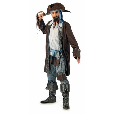 Déguisement luxe de Pirate Homme Bleu