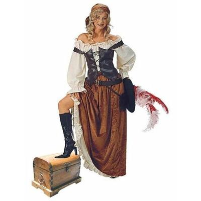 Déguisement de Pirate Femme Marron
