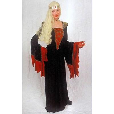 Déguisement Femme Médiévale Noir Et Rouge