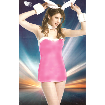 Déguisement lapin femme sexy rose