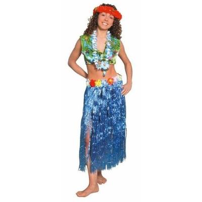 Jupe Hawaïenne 75Cm Bleue