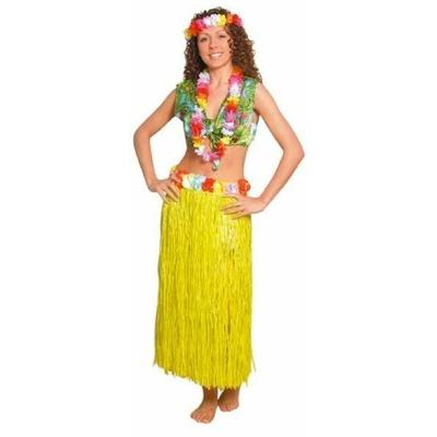 Jupe Hawaïenne 75Cm Jaune
