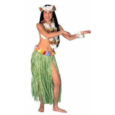 Jupe Hawaïenne 75Cm Verte