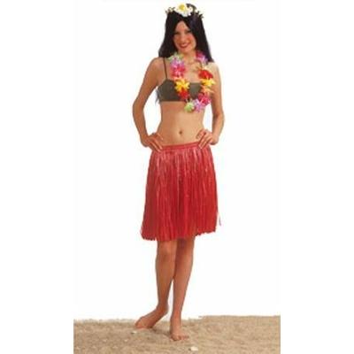 Jupe Hawaïenne Courte Rouge