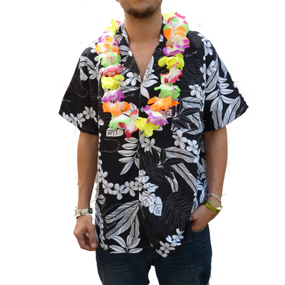 Chemise Hawaïenne noire
