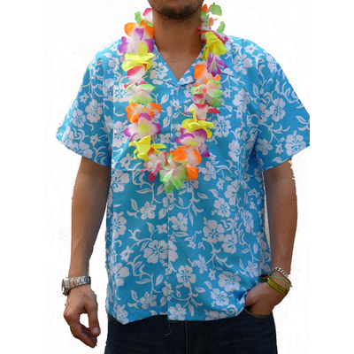 Chemise Hawaïenne bleue ciel