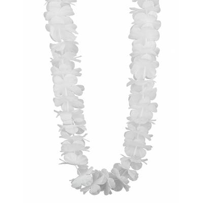 Collier Hawaïen Fleurs Blanches