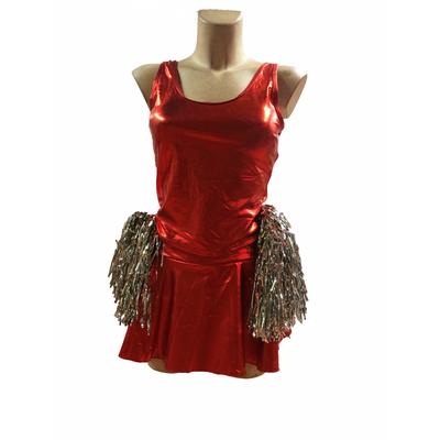 Costume Pom-pom girl métallisé rouge