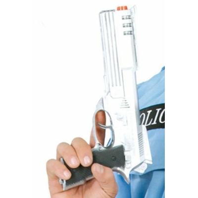 Pistolet En Plastique Argenté 29 Cm