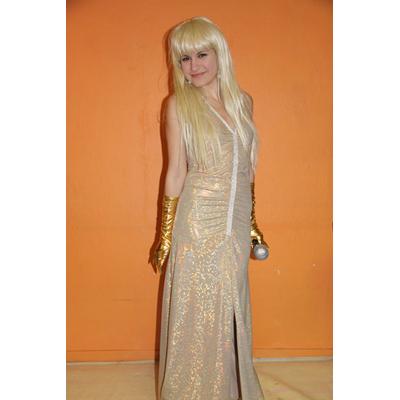 Déguisement robe Dalida dorée