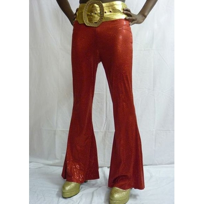Pantalon Disco Mixte Rouge à Paillettes