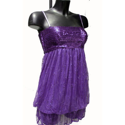 Mini Robe boule Ou Tunique Disco À Paillettes mauve