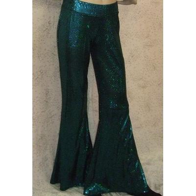 Pantalon Disco Bleu turquoise à Paillettes