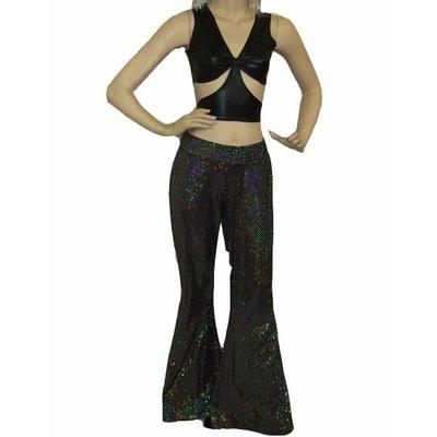 Pantalon Disco Noir à Paillettes