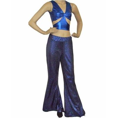 Pantalon Disco Bleu à Paillettes