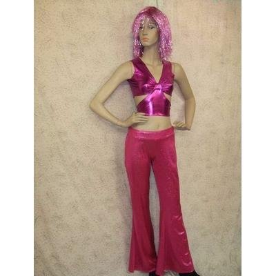 Pantalon Disco Rose à Paillettes
