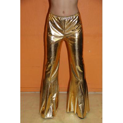 Pantalon Disco Mixte Métallisé Doré