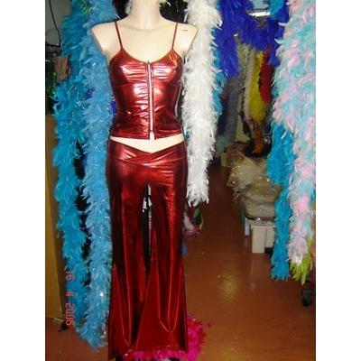 Pantalon Lamé Disco Rouge
