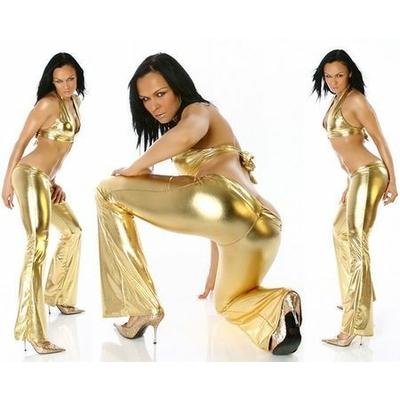 Pantalon Disco Or Métallisé