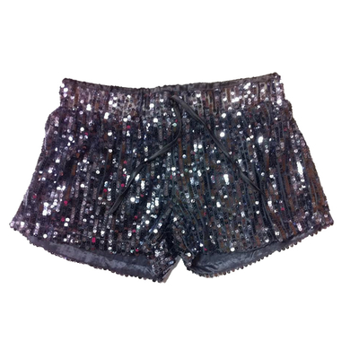 Short paillettes gris