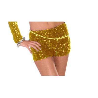 Short pin up à paillettes dorées