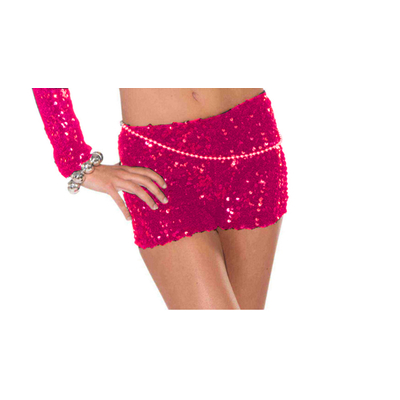 Short pin up à paillettes fuchsia