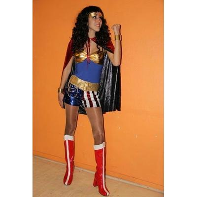 Short à Paillettes USA ou Wonder Woman