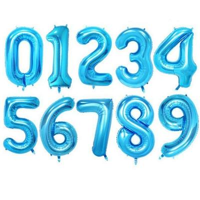 Ballon chiffre bleu mylar 104 cm