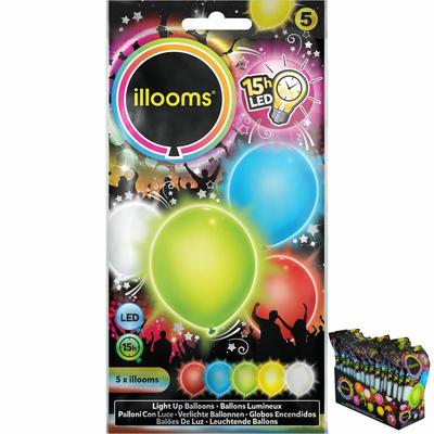 5 ballons lumineux