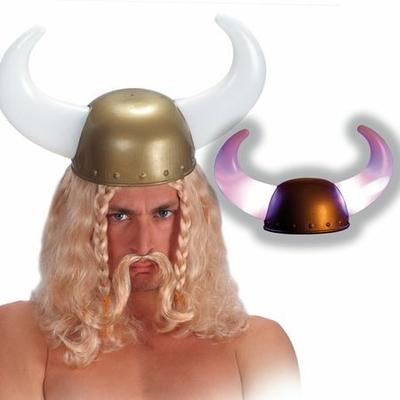 Casque Viking Avec Cornes Lumineuses