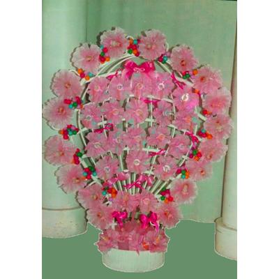 Composition de dragées montgolfière rose