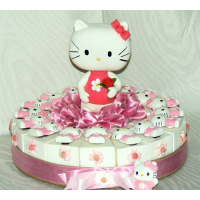 Gâteau hello kitty pour dragées