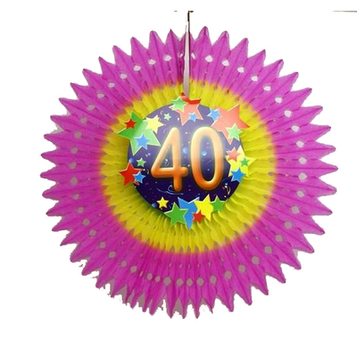 Eventail anniversaire âge 40